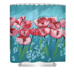 Brezzy Poppies Shower Curtain