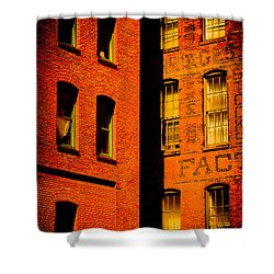Brick And Glass Shower Curtain by Matthew Blum