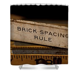 Brick Mason's Rule Shower Curtain