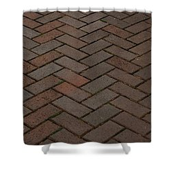 Brick Pattern Shower Curtain