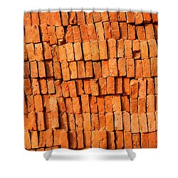 Brick Stack Shower Curtain