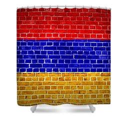 Brick Wall Armenia Shower Curtain