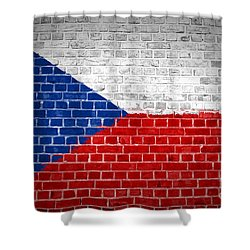 Brick Wall Czech Republic Shower Curtain by Antony McAulay