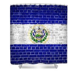 Brick Wall El Salvador Shower Curtain