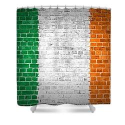 Brick Wall Ireland Shower Curtain