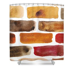 Brick Wall Shower Curtain by Kerstin Ivarsson