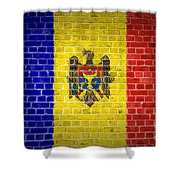 Brick Wall Moldova Shower Curtain