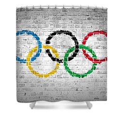 Brick Wall Olympic Movement Shower Curtain