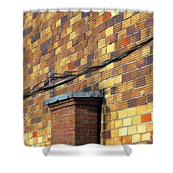 Bricks And Wires Shower Curtain by Ethna Gillespie