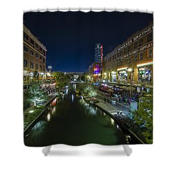 Bricktown Canal Shower Curtain