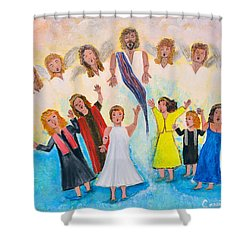 Bridal Invitation Shower Curtain