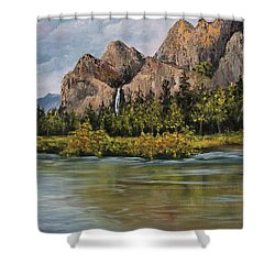 Bridalveil Fall Yosemite Shower Curtain