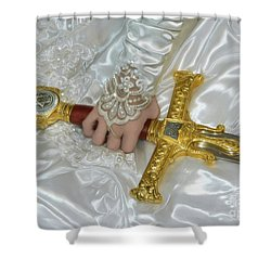 Bride Of Christ Sword Shower Curtain by Constance Woods