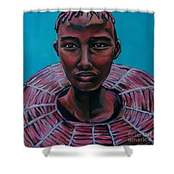 Bride - Portrait African Shower Curtain