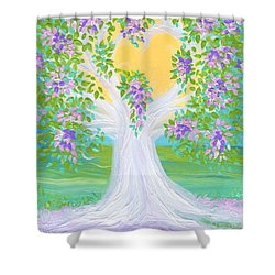 Bride's Tree Purple Shower Curtain by First Star Art