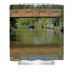 Bridge 238b Oxford Canal Shower Curtain