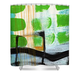 Bridge- Abstract Landscape Shower Curtain
