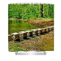 Bridge Across Colbert Creek At Mile 330 Of Natchez Trace Parkway-alabama Shower Curtain