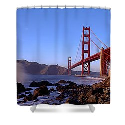 Bridge Across The Bay, San Francisco Shower Curtain by Panoramic Images