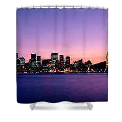 Bridge Across The Sea, Sydney Opera Shower Curtain by Panoramic Images