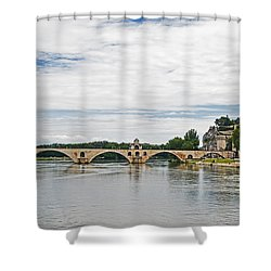 Bridge At Avignon Shower Curtain