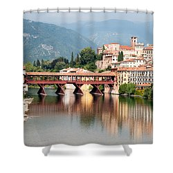 Bridge At Bassano Del Grappa Shower Curtain