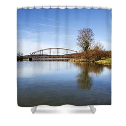 Shower Curtain featuring the photograph Bridge At Upper Lisle by Christina Rollo