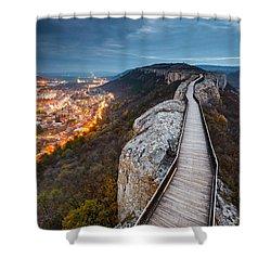 Bridge Between Epochs Shower Curtain