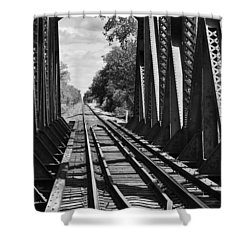 Bridge In Black And White Shower Curtain