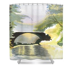 Bridge In Shadows Shower Curtain