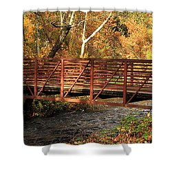 Bridge On Big Chico Creek Shower Curtain by James Eddy