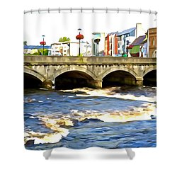 Bridge On The Garavogue Shower Curtain