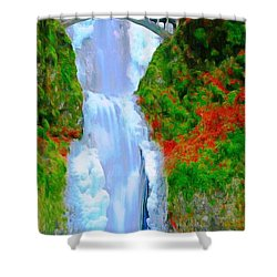 Bridge Over Beautiful Water Shower Curtain by Catherine Lott