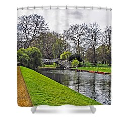 Bridge Over River Cam Shower Curtain