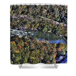 Bridge Over River Shower Curtain by Jonny D