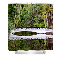 Shower Curtain featuring the photograph Bridge Over Silent Waters by Jean Haynes