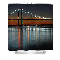 Suspended Reflections Shower Curtain by James Kirkikis