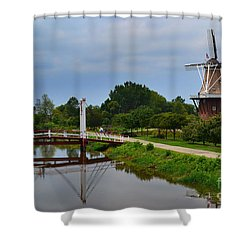 Bridge To Holland Windmill Shower Curtain