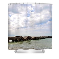 Bridge To Nowhere Shower Curtain by Margie Amberge