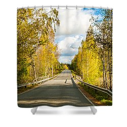 Bridge To Pretty Autumn Day Shower Curtain