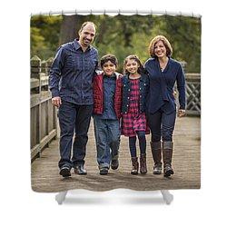 Bridge Walk - Group Hug Shower Curtain