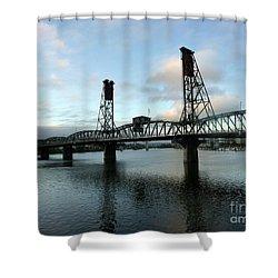 Bridging The River Shower Curtain by Susan Garren