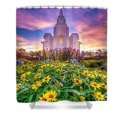 Brigham City Temple Shower Curtain by Dustin  LeFevre