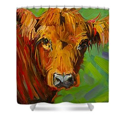 Bright And Beautiful Cow Shower Curtain