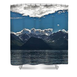 Shower Curtain featuring the photograph Bright And Cloudy by Aimee L Maher Photography and Art Visit ALMGallerydotcom