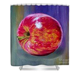 Bright Apple Shower Curtain by Graciela Castro