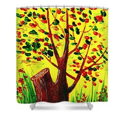 Bright Fall Shower Curtain by Anastasiya Malakhova