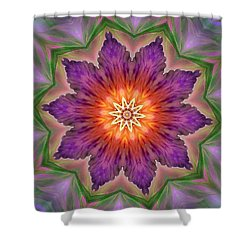 Shower Curtain featuring the digital art Bright Flower by Lilia D