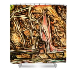 Bright Gloomy Roar Oar  Shower Curtain