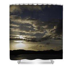 Bright Horizon Shower Curtain by Judy Hall-Folde